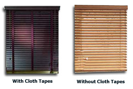 wood blinds clothtape example picture